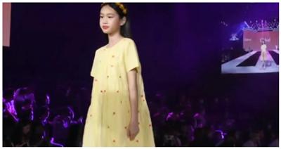 7岁甜馨进军模特圈?跟钟丽缇女儿同台走秀图3