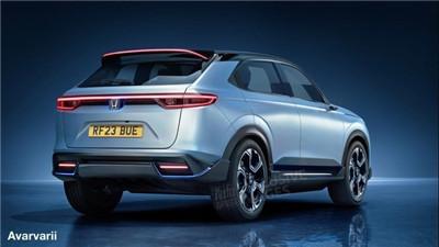 本田全新纯电小型SUV假想图 尺寸与缤智相当/或2023年亮相图2